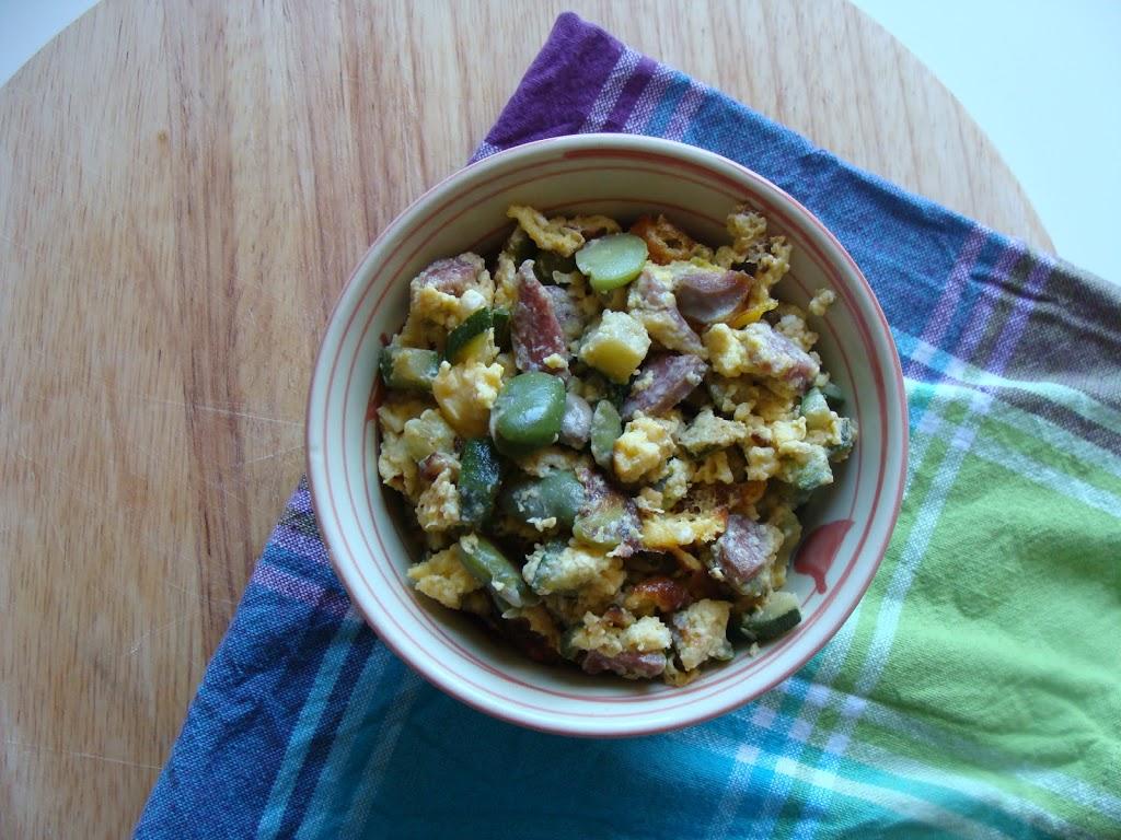 Scrambled eggs con le fave