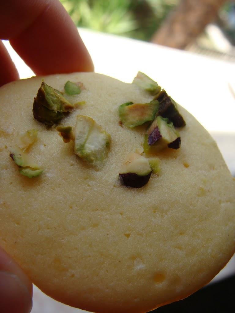 Biscotti limone e pistacchio