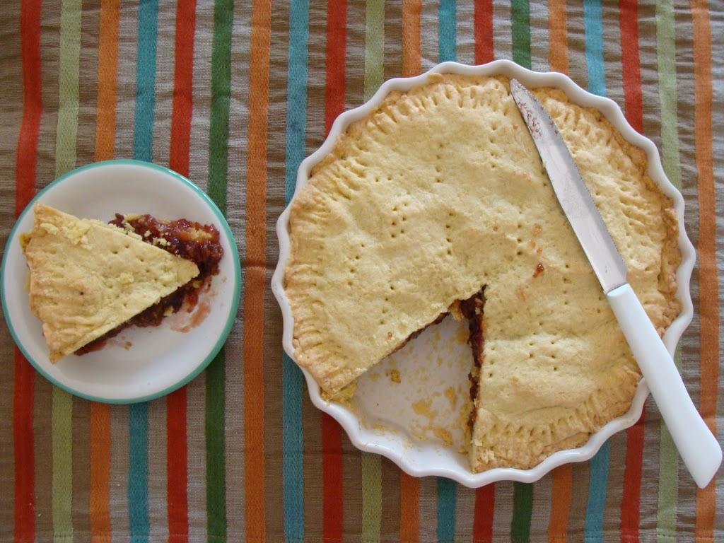 Crostata di marmellata e biscotti