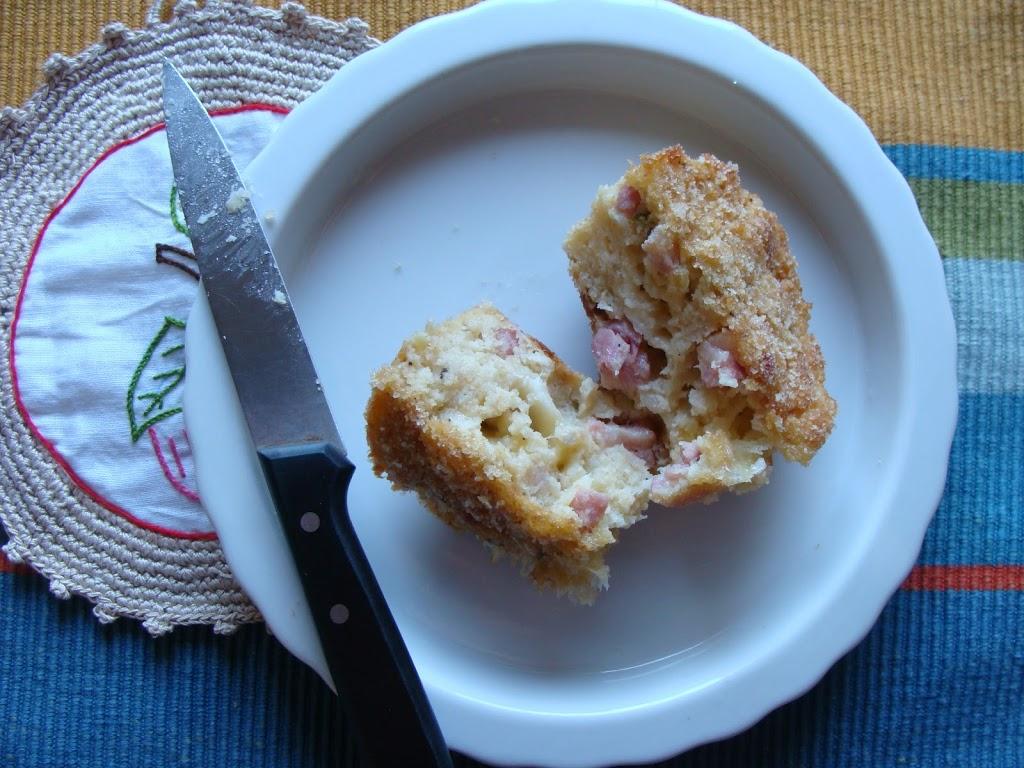muffins di patate e pancetta