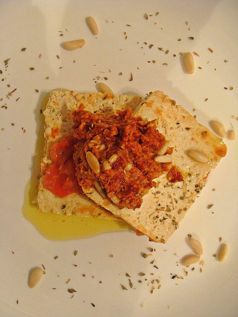 Tofu al pesto di pomodori secchi