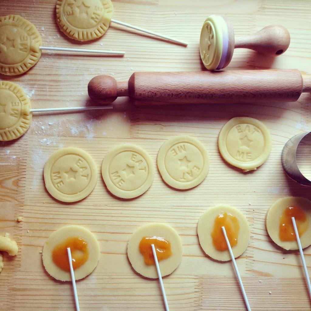 Lecca lecca di biscotto