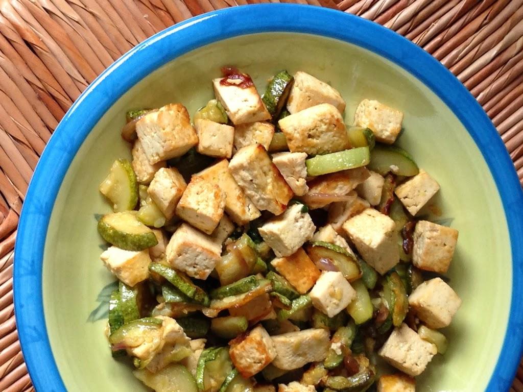Tofu con zucchine e menta