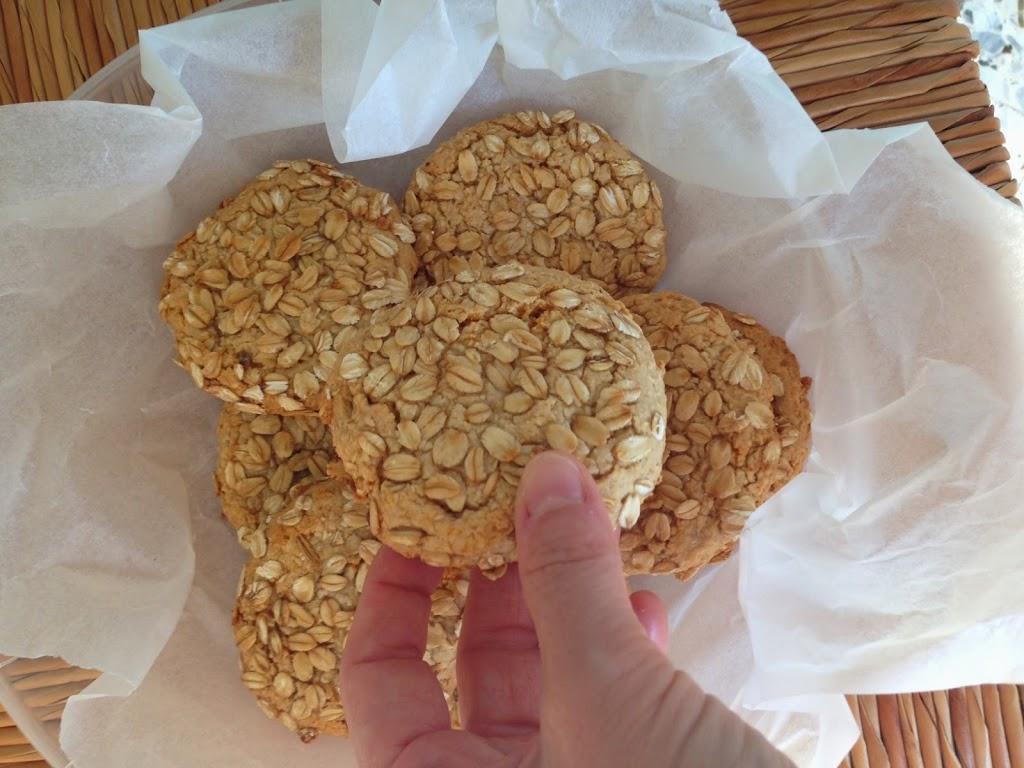 Biscotti light di avena e miele