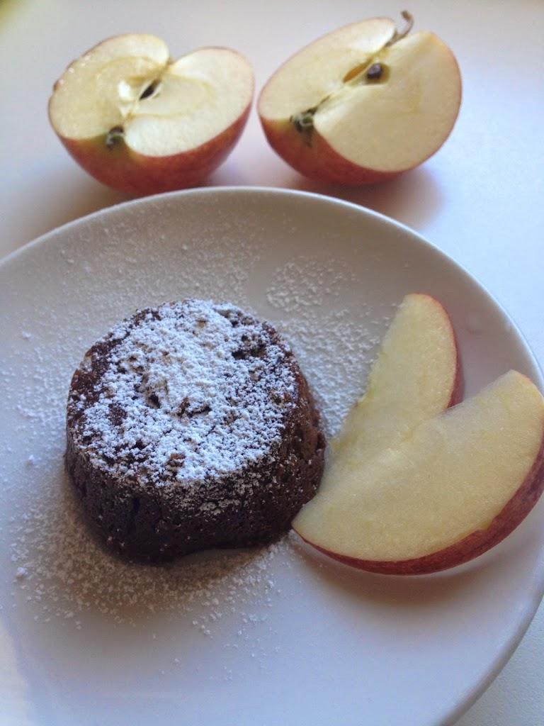 Brownies con mele e banane