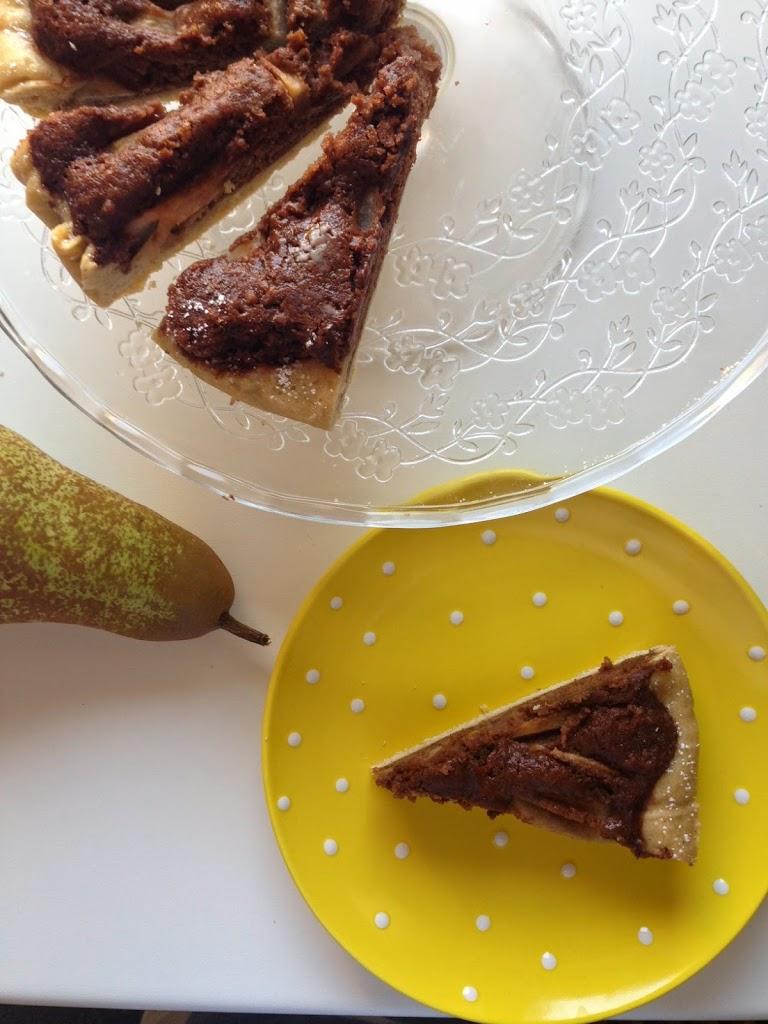 Crostata con pere e cioccolato