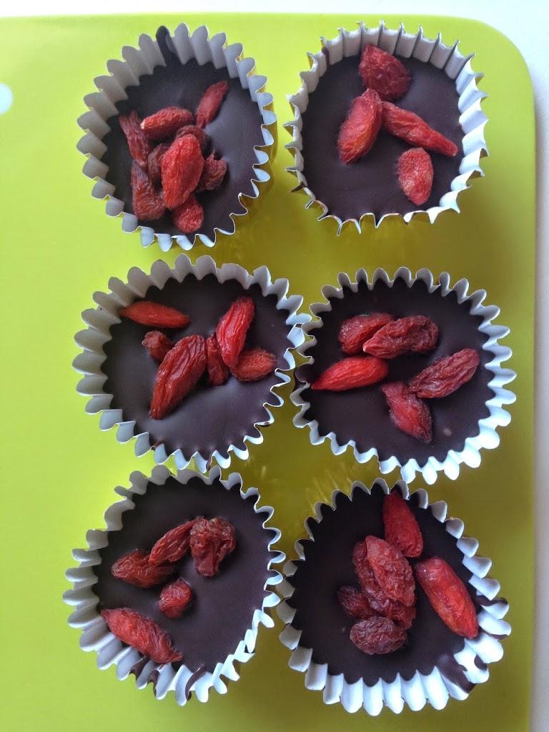 cioccolatini con bacche di goji