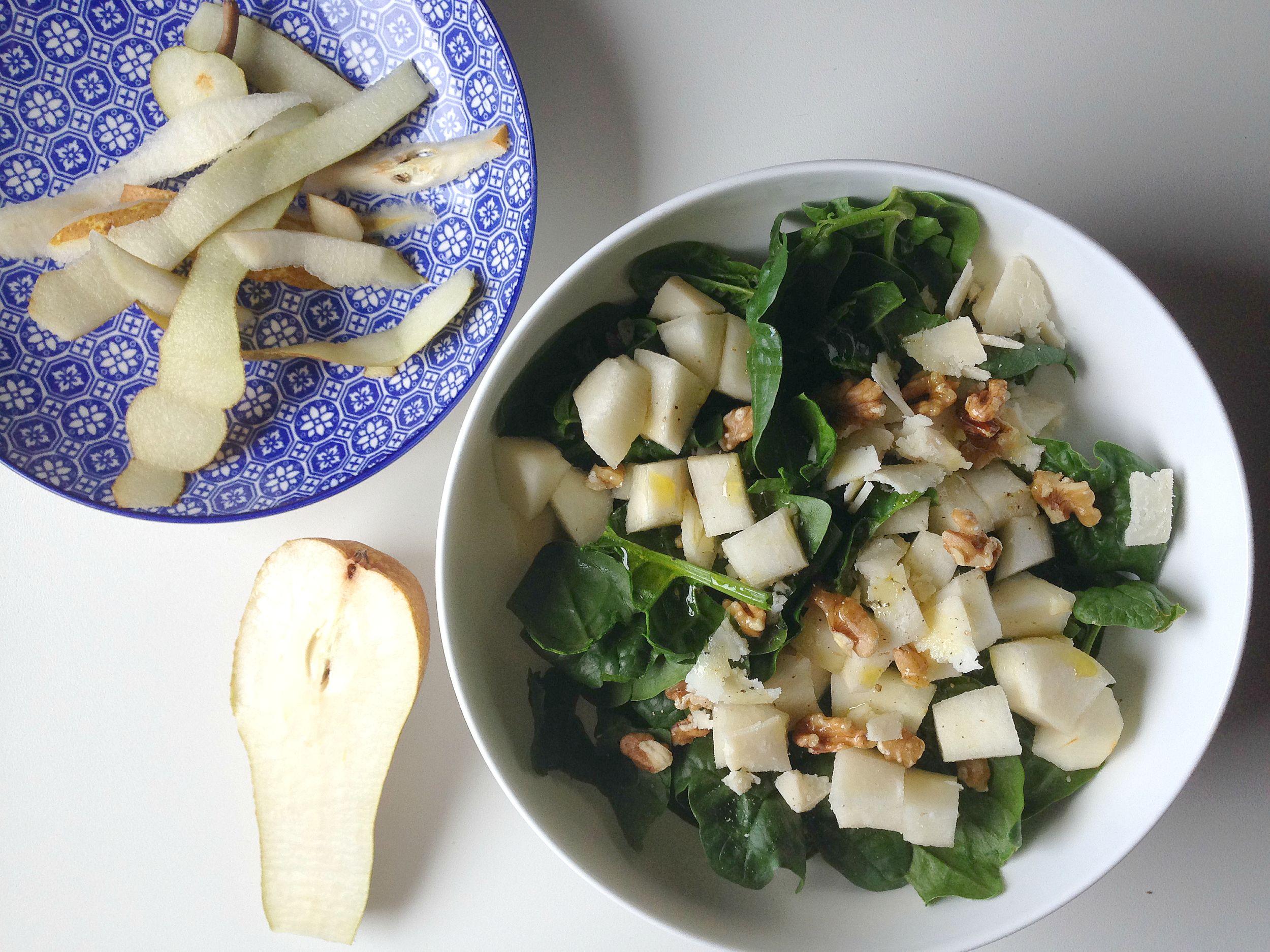 insalata di spinaci freschi