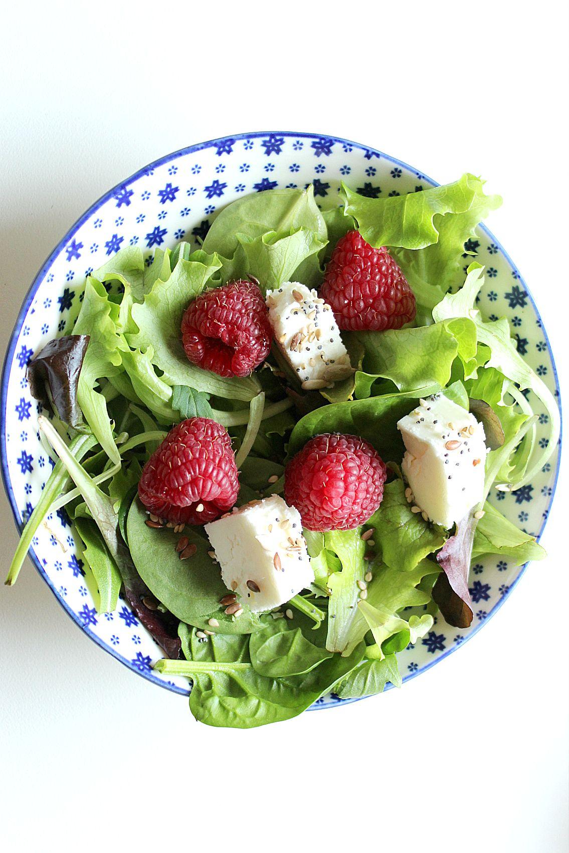 insalata feta lamponi