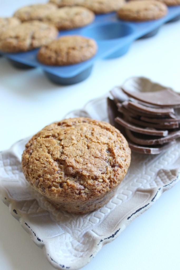 muffins cioccolato, madorle, cocco