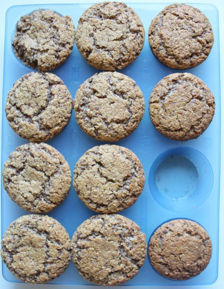 muffins cocco, mandorle, cioccolato