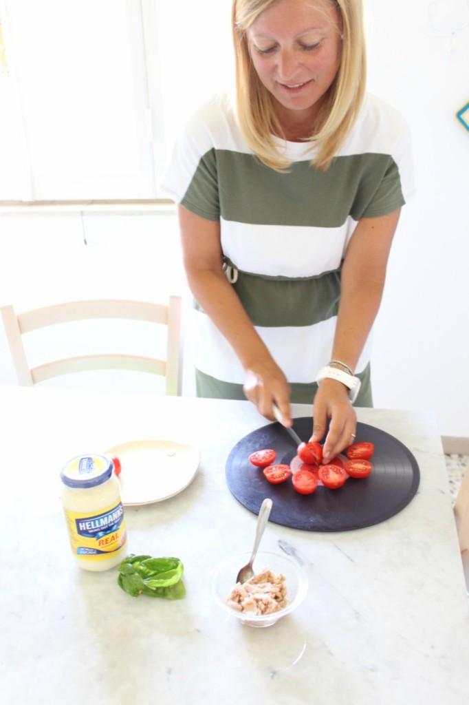 Pomodorini con tonno o maionese