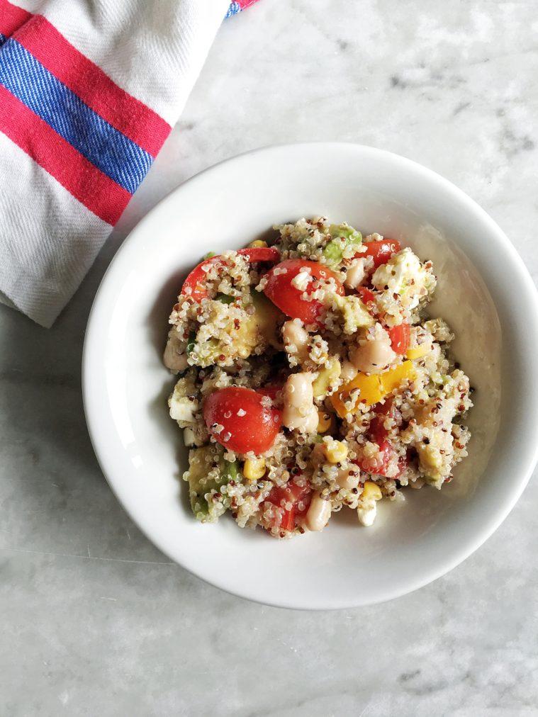 Insalata ricca di quinoa