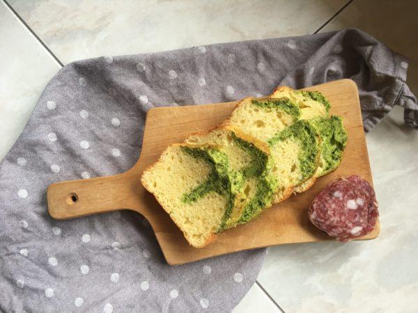 Plumcake salato con parmigiano e spinaci