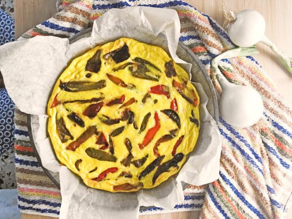 Frittata al forno con ricotta e peperoni